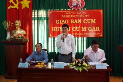 Sở Giáo dục và Đào tạo làm việc với các đơn vị trường học trên địa bàn huyện Cư M'Gar
