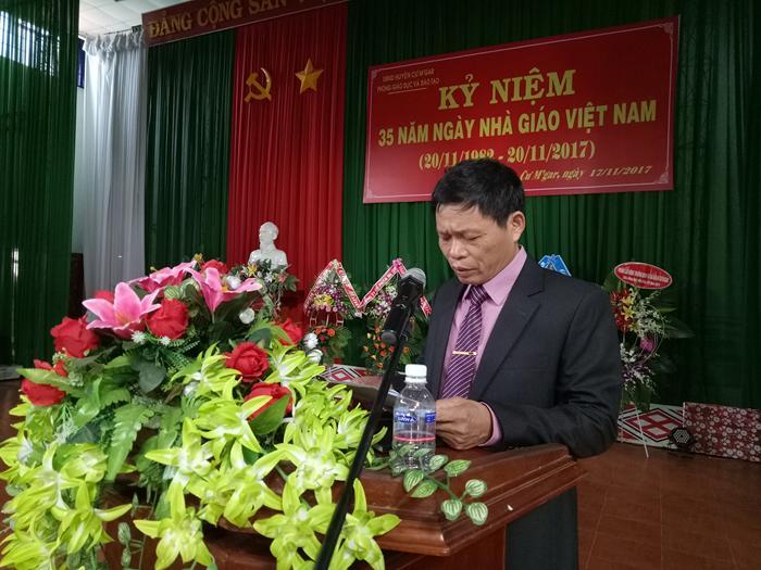 Huyện Cư M'gar tổ chức kỉ niệm 35 năm Ngày Nhà giáo Việt Nam (20/11/1982 – 20/11/2017)